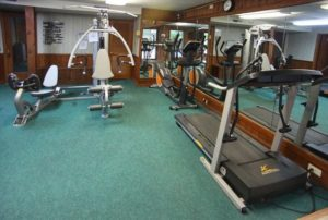 Exercise equipment in Fitness Center for guests of Loreley Resort